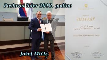 2018 gazdasági vezetője díj - Micsiz József
